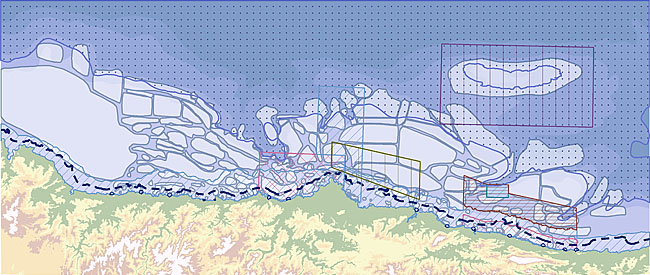 SIG del medio marino de Asturias