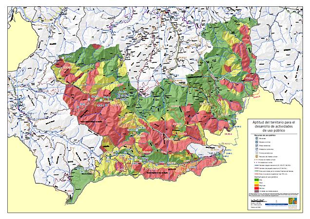 Mapa de aptitud del territorio para el uso público